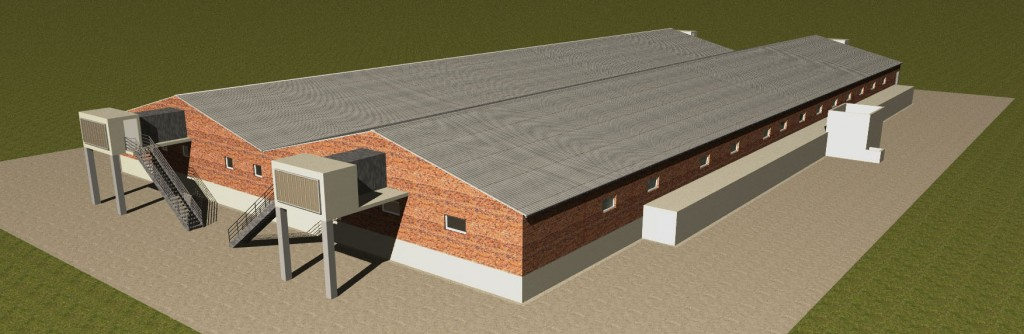 Outside 3D view of the Building Green Tech Concept