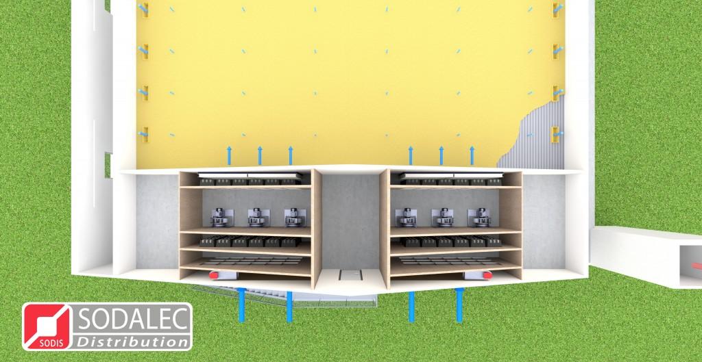 Ventilation et Filtration Green Tech Concept - Vue de dessus
